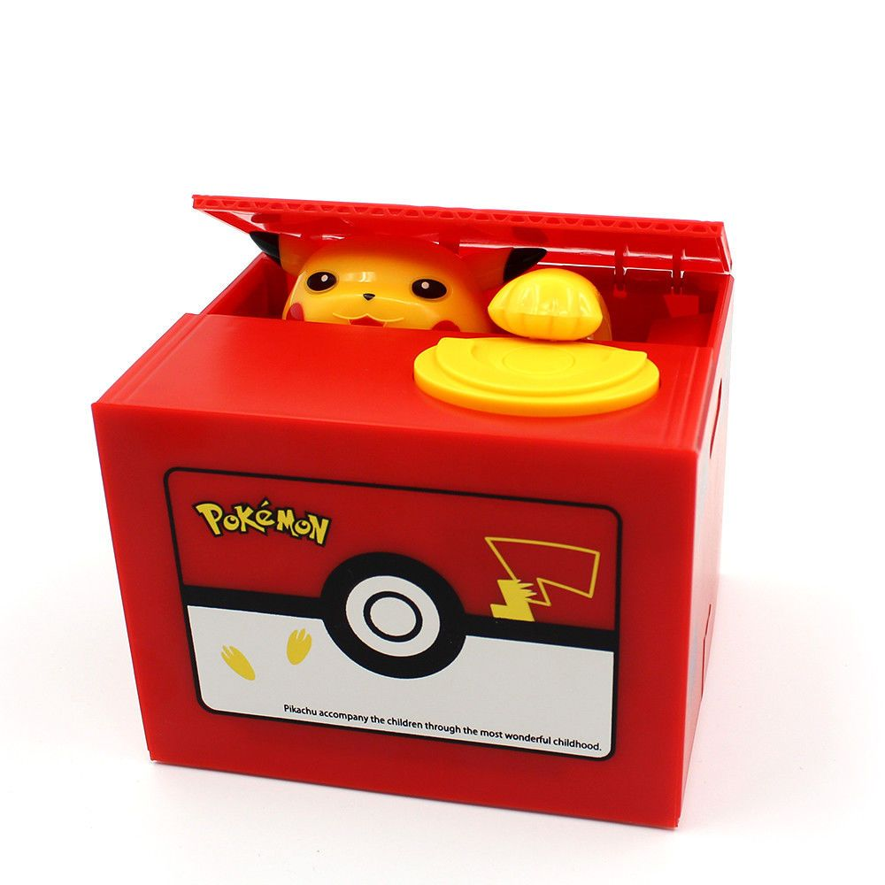 Pokemon Pikachu Moving Electronic Coin Money Piggy Bank Box from Japan New