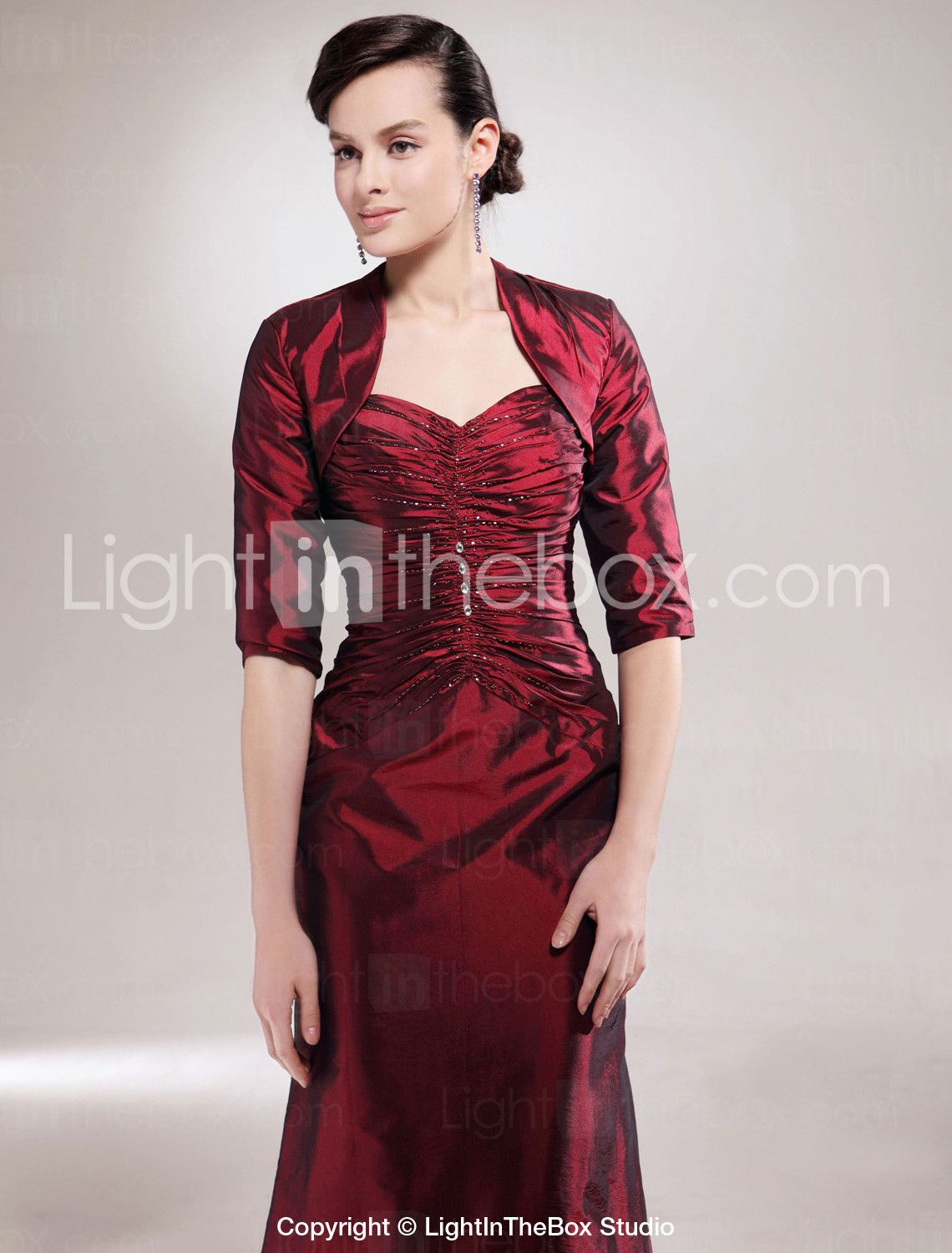 A-line Sweetheart Floor-length Taffeta Mother of the Bride Dress With A Wrap - US$ 146.99