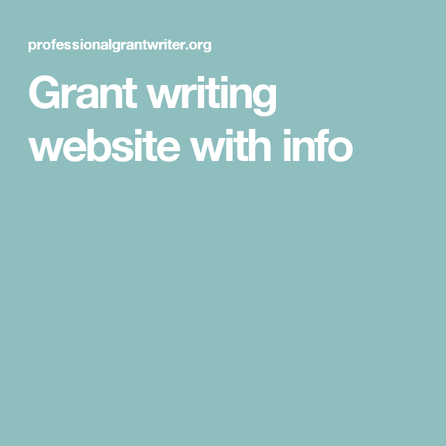 Grant Writing Website With Info