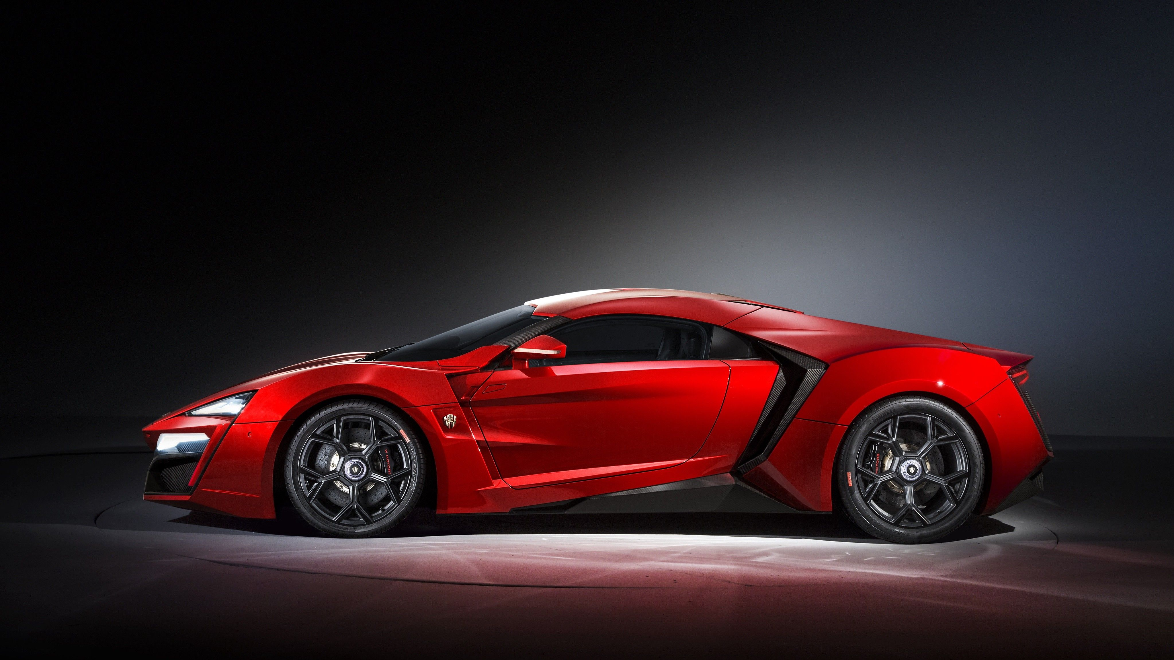 General 4095x2301 Car Super Car Lykan Hypersport Red Cars Side View