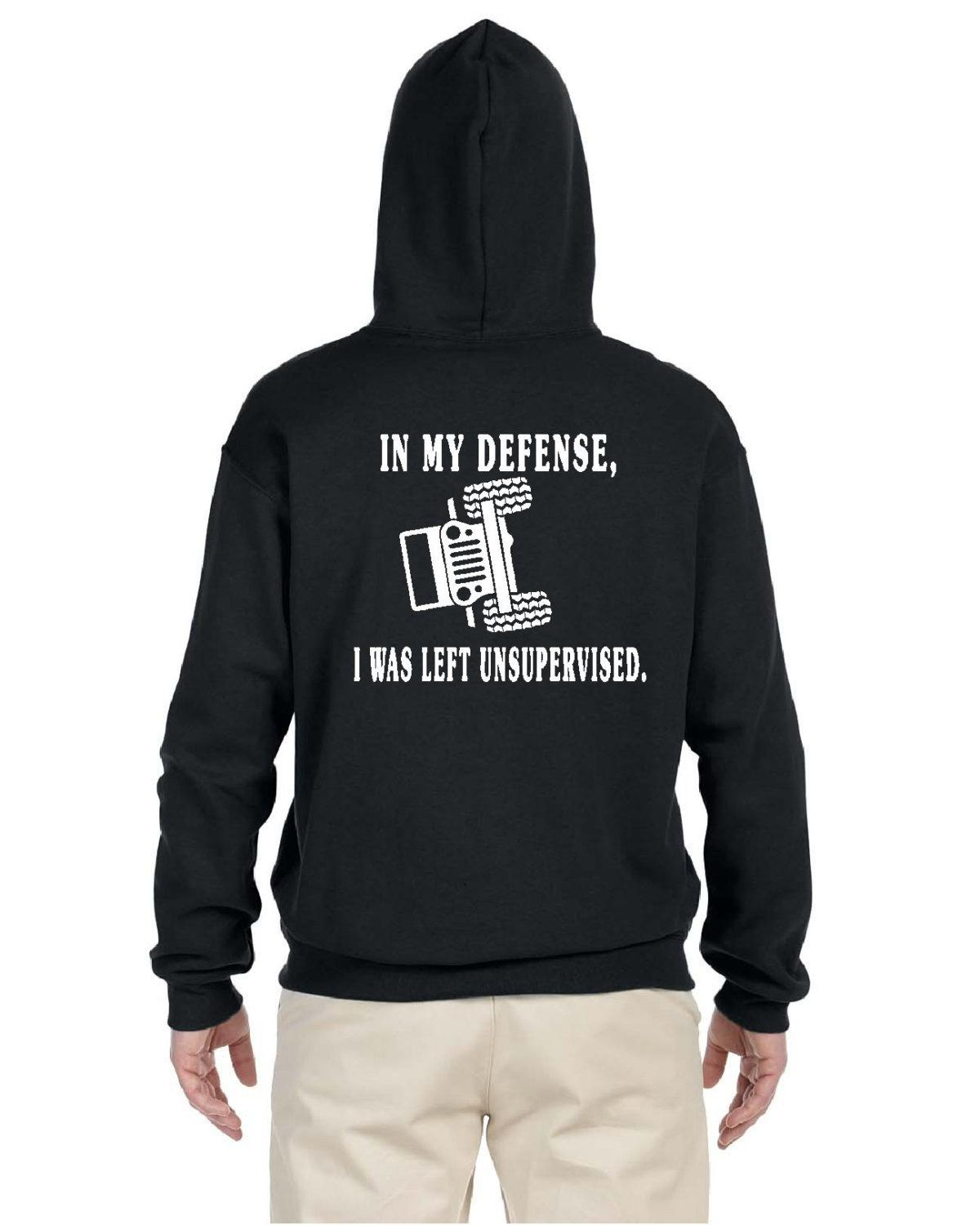 b53b36559 In My defense i was left unsupervised jeep Hoodie pullover jeep hoodie  pullover hooded sweatshirt jeep sweatshirt by DetroitSpeedFactory on Etsy
