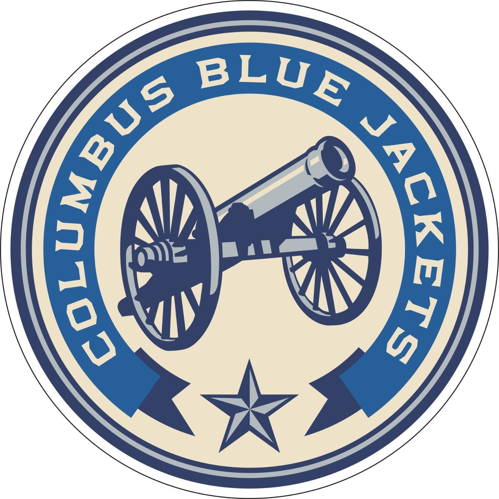 "$3 - Columbus Blue Jackets Nhl Hockey Bumper Sticker Wall Decor Vinyl Decal, 5""X 5"" #ebay #Collectibles"