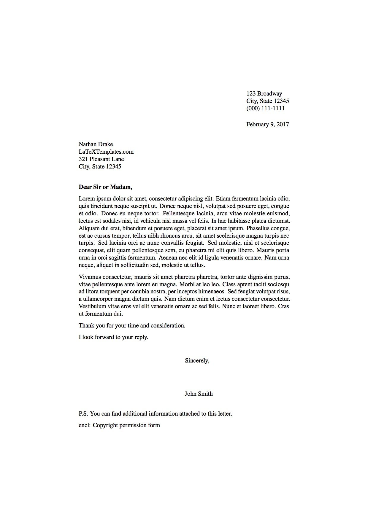 Fresh Formal Letter Format