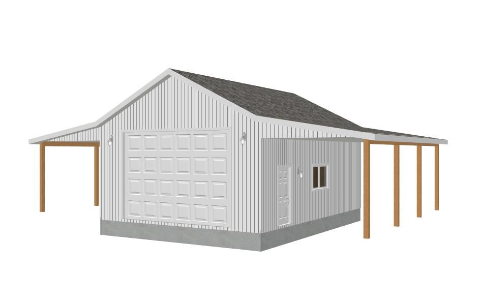 Garage plans 8002 18 24 39 x 32 39 x 12 39 detached for Garage workshop plans