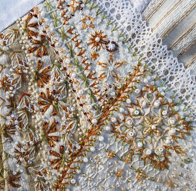 Claudias Blog Tast 2012 Fly Stitch Embroidery Pinterest