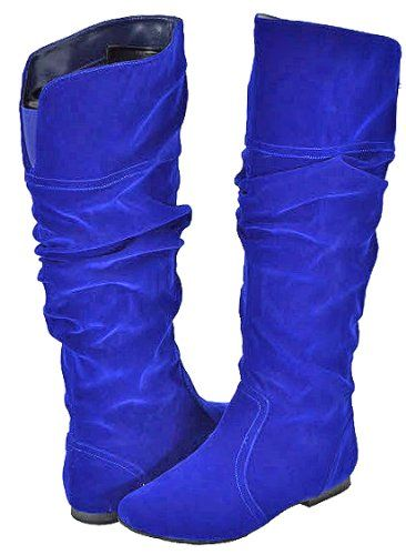 4bcb9efde6e  36.99 Qupid Neo-144 Royal Blue Velvet Women Casual Boots From Qupid Get it  here