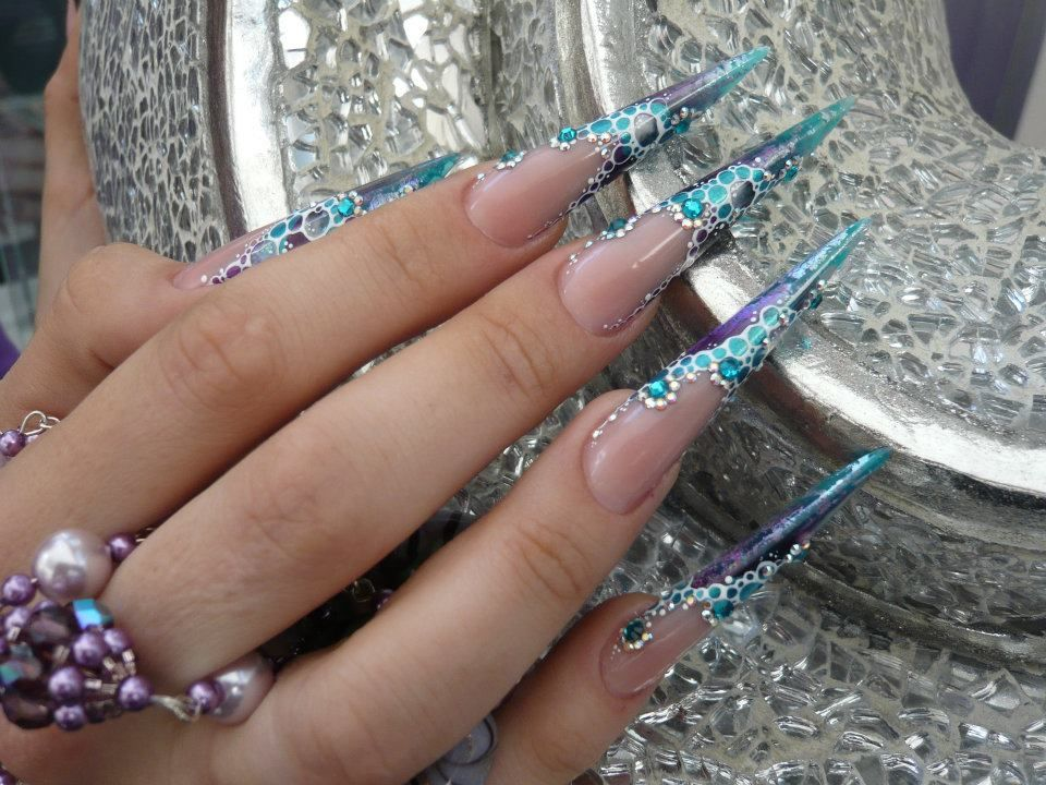 Cute Nail Designs For Stiletto Nails - http://www.mycutenails.xyz ...