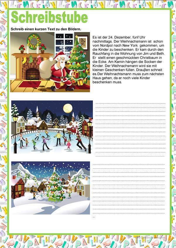 Schreibstube - Weihnachten | Weihnachten (Deutsch für Kinder ...
