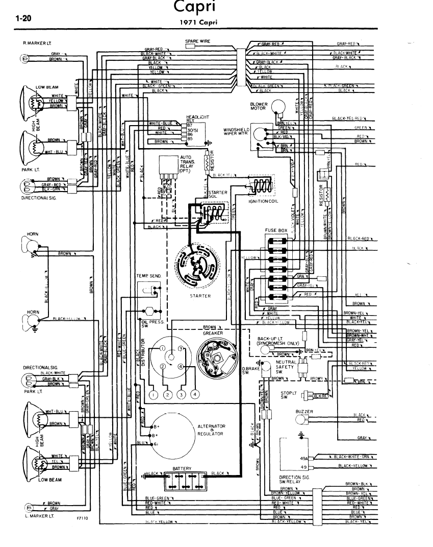 Ford Capri Wiring Diagram In 2020 Ford Capri Capri Ford