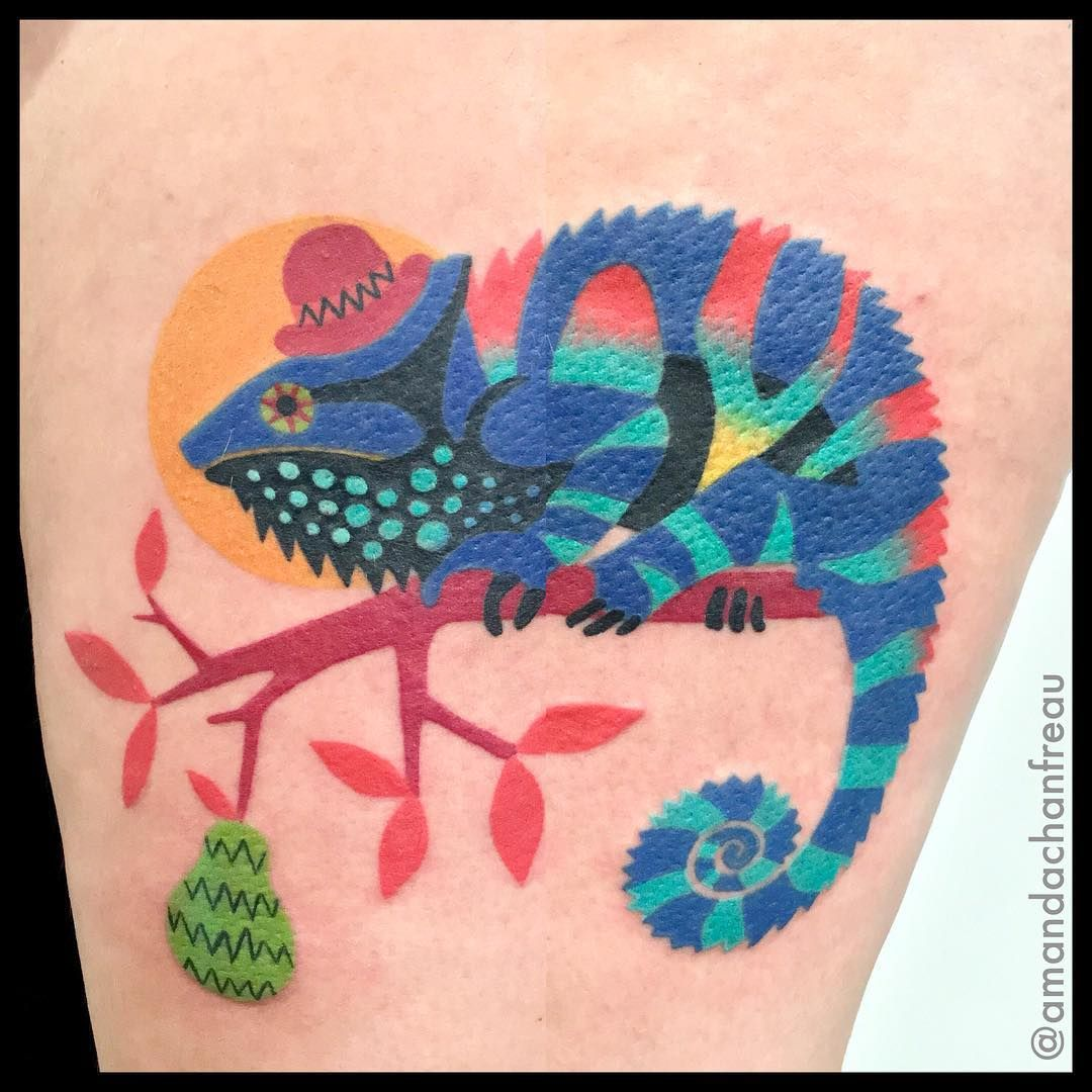 Amanda Chanfreau Chameleon Tattoo Chameleon Tattoo Tattoos