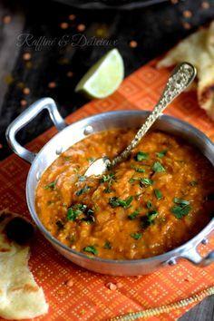 Dhal de lentilles corail au lait de coco & Curry