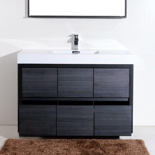 Tenafly 59 Single Bathroom Vanity Set With Images Modern