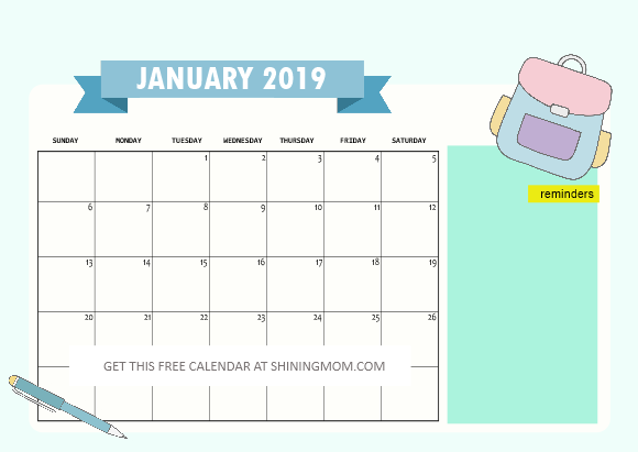Via Calendrier 2020.Free School Calendar 2019 2020 With Weekly Student Planner
