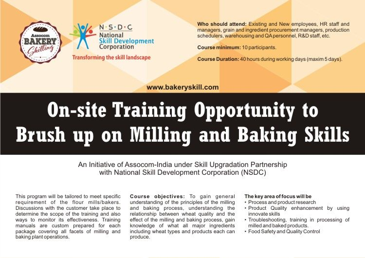 On-site Training Opportunity to Brush up on Milling and Baking