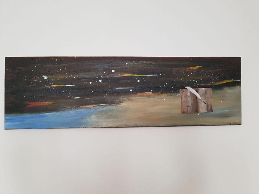 Details zu Acryl Kunst Acrylmalerei Abstrakt Leinwand Keilrahmen 30 ...