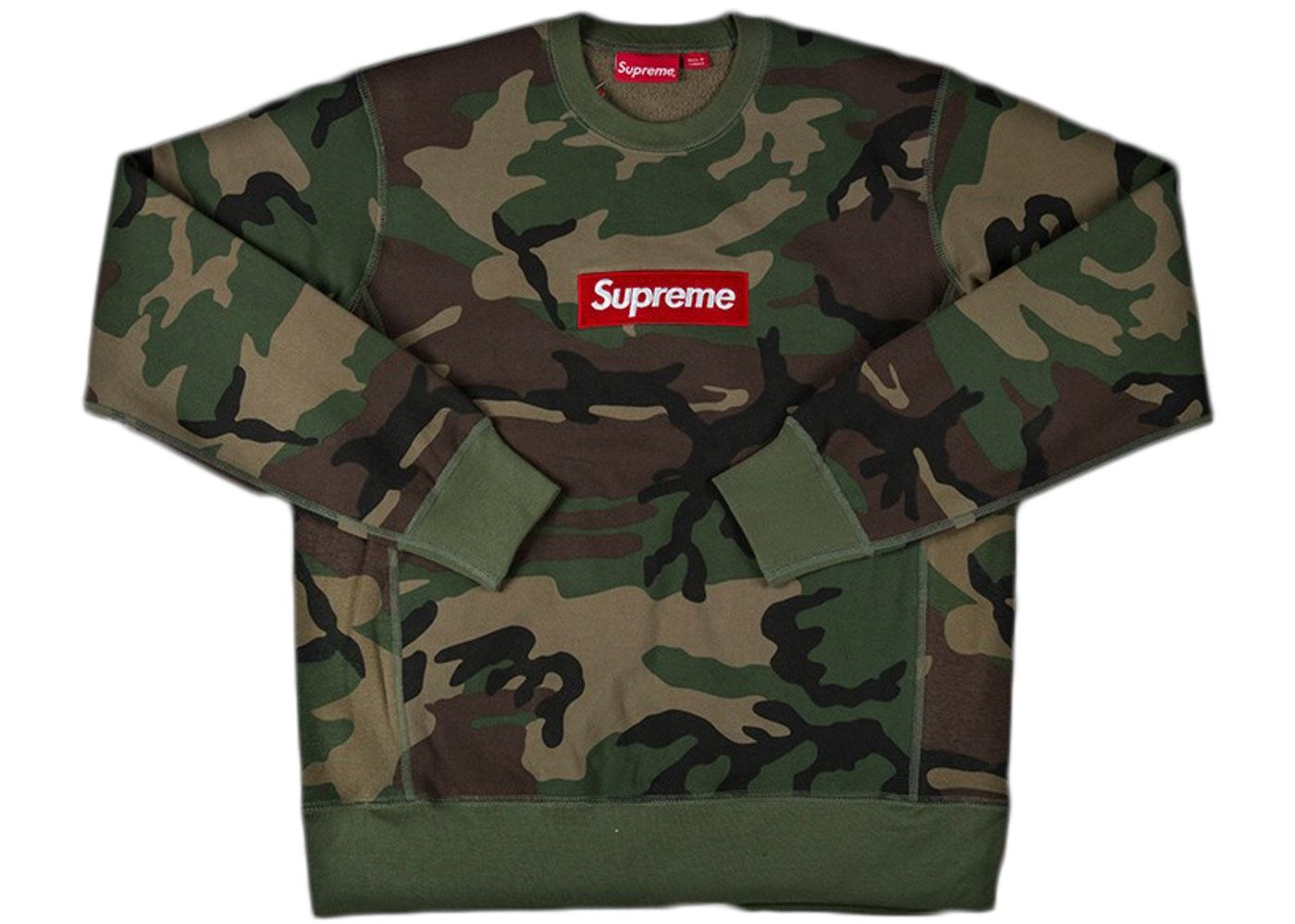 Supreme Box Logo Crewneck Fw15 Camo In 2021 Supreme Sweatshirt Boys Designer Clothes Supreme Box Logo [ 1000 x 1400 Pixel ]
