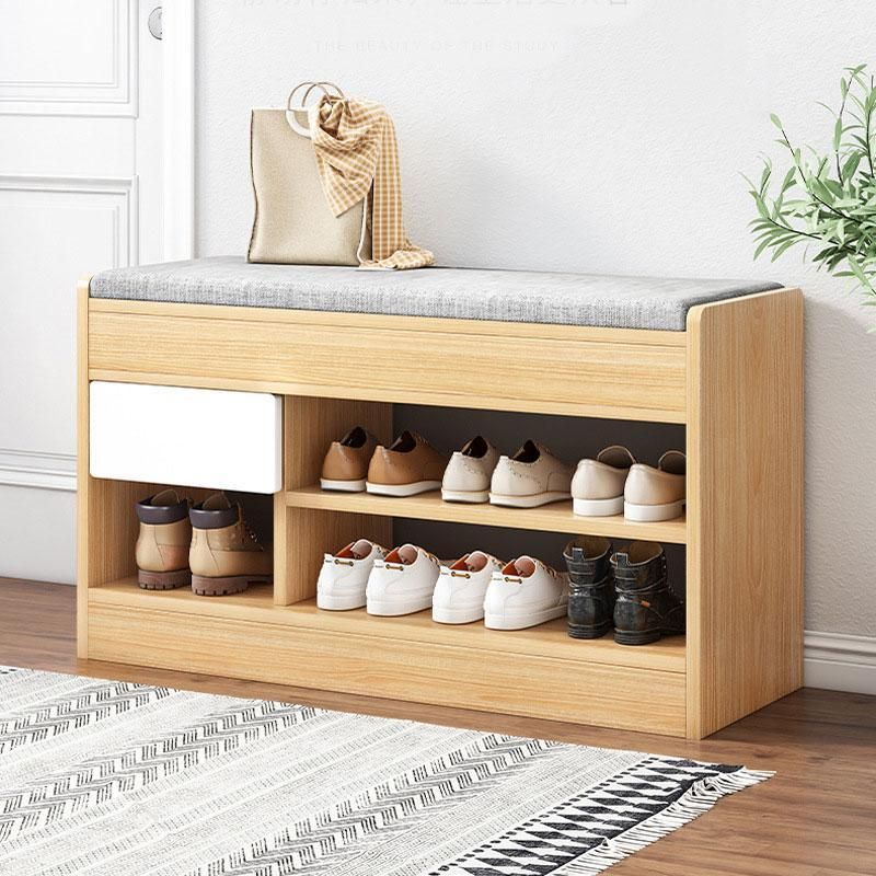 Shoe Storage Bench - 31.5*11.8*20.5in / Rubber Wood