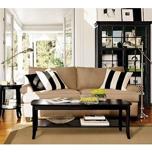 Livingrooms Color Scheme Tan Black And White