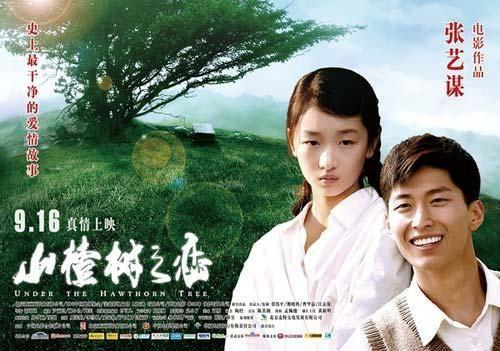 UNDER THE HAWTORN TREE: com Shawn Dou e Dongyu Zhou.  Que filme lindo! É um filme de amor, amor mesmo, amor que nem existe. O filme é de 2010, mas retrata uma época remota. Parece ser um filme seco, rude, mas é um filme doce. Recomendo! É muito expressivo!