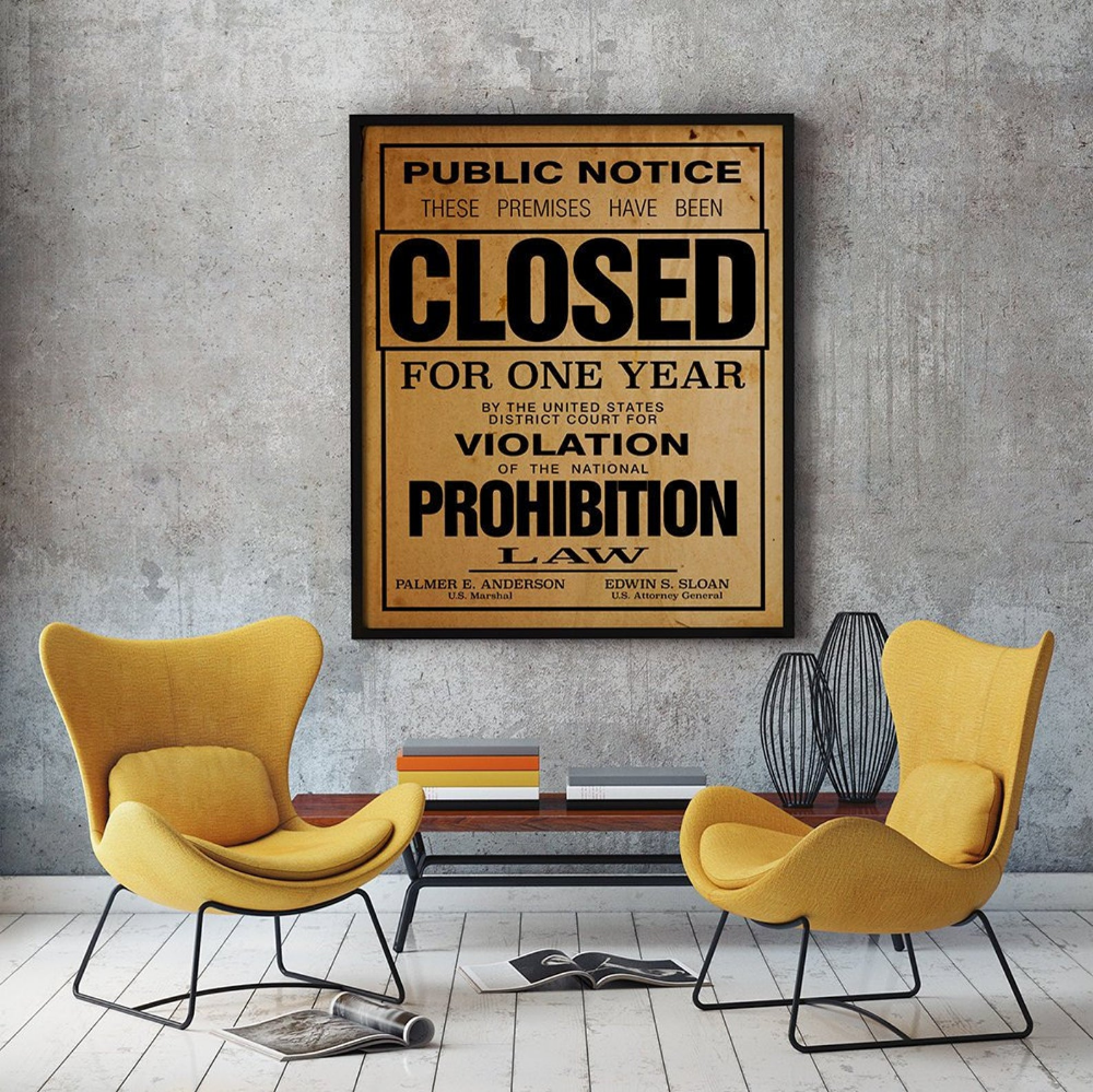 US Government Prohibition Poster Reproduction Unframed Home | Etsy