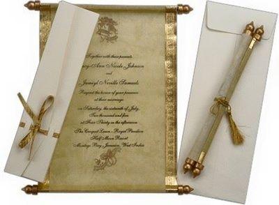 Light Weight Invite Scroll Wedding