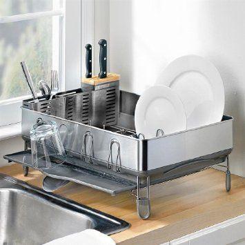 Amazon Com Brylanehome Simplehuman Steel Frame Dish Rack Home