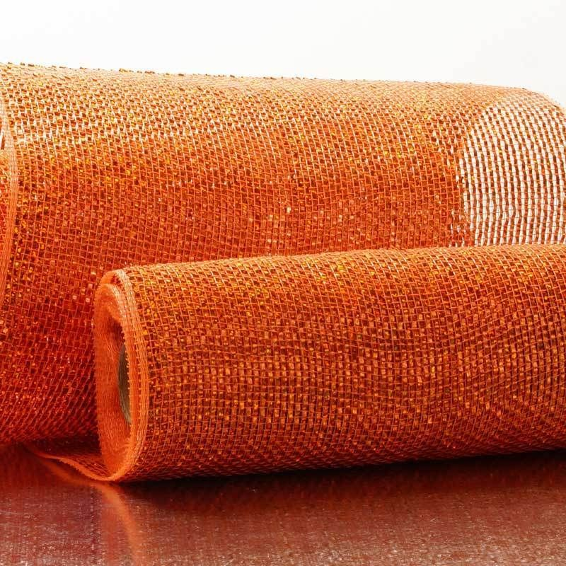 New Lower Price 45 Off 10 X 10yd Deco Mesh Orange Full Laser Metallic Spring Colors Wreaths New Ebay Deco Mesh Deco Spring Colors