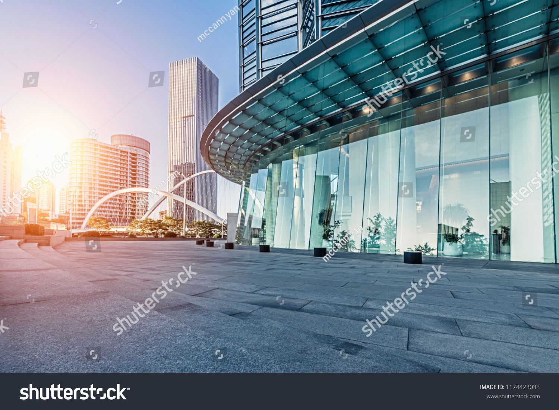 city, empty, floor, landmark, road, modern, building, street ...