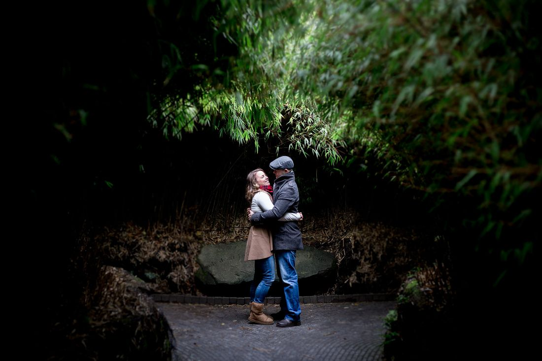 Engagement pictures in Alnwick Gardens - AnnaJoy Photography
