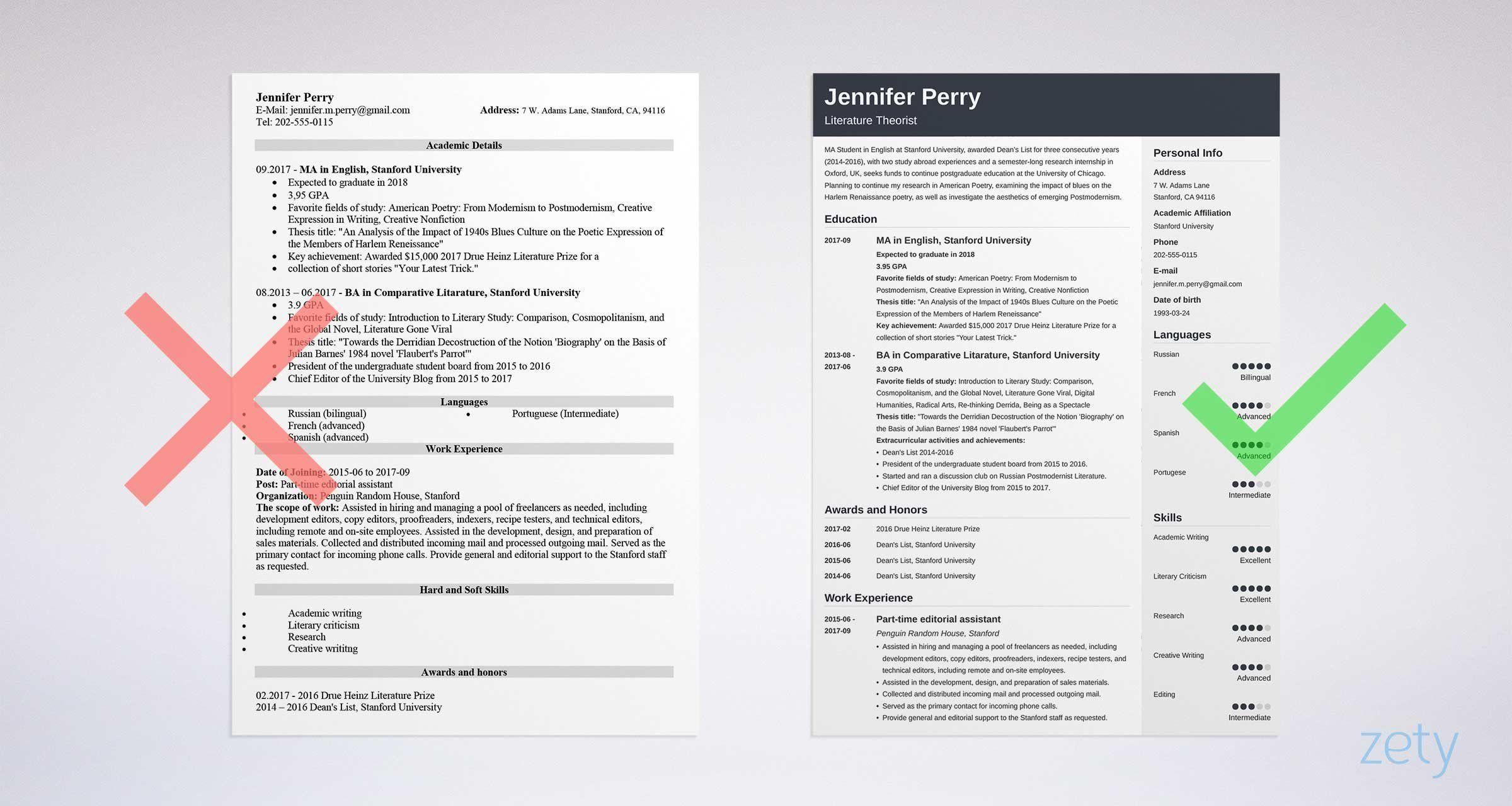 scholarship resume sample | school / college | Resume
