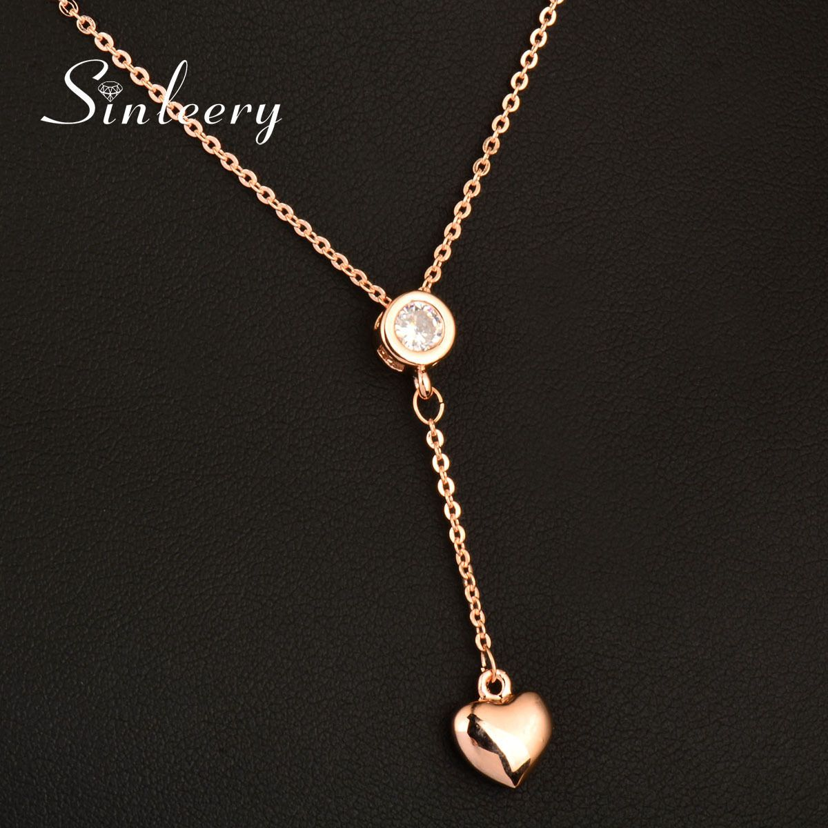Million Charms 14k Yellow Gold with White CZ Accented Small Floating Heart Charm Pendant