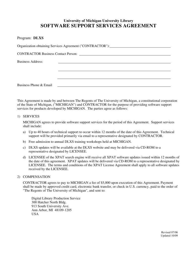 6+ IT Service Agreement Templates PDF Library software