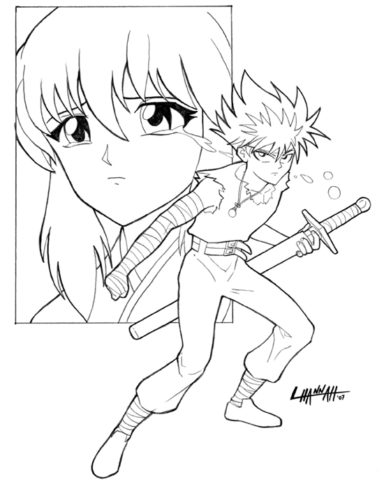 - Pin By Michael Romeo On Line Art/Coloring Pages Anime, Hiei, Art