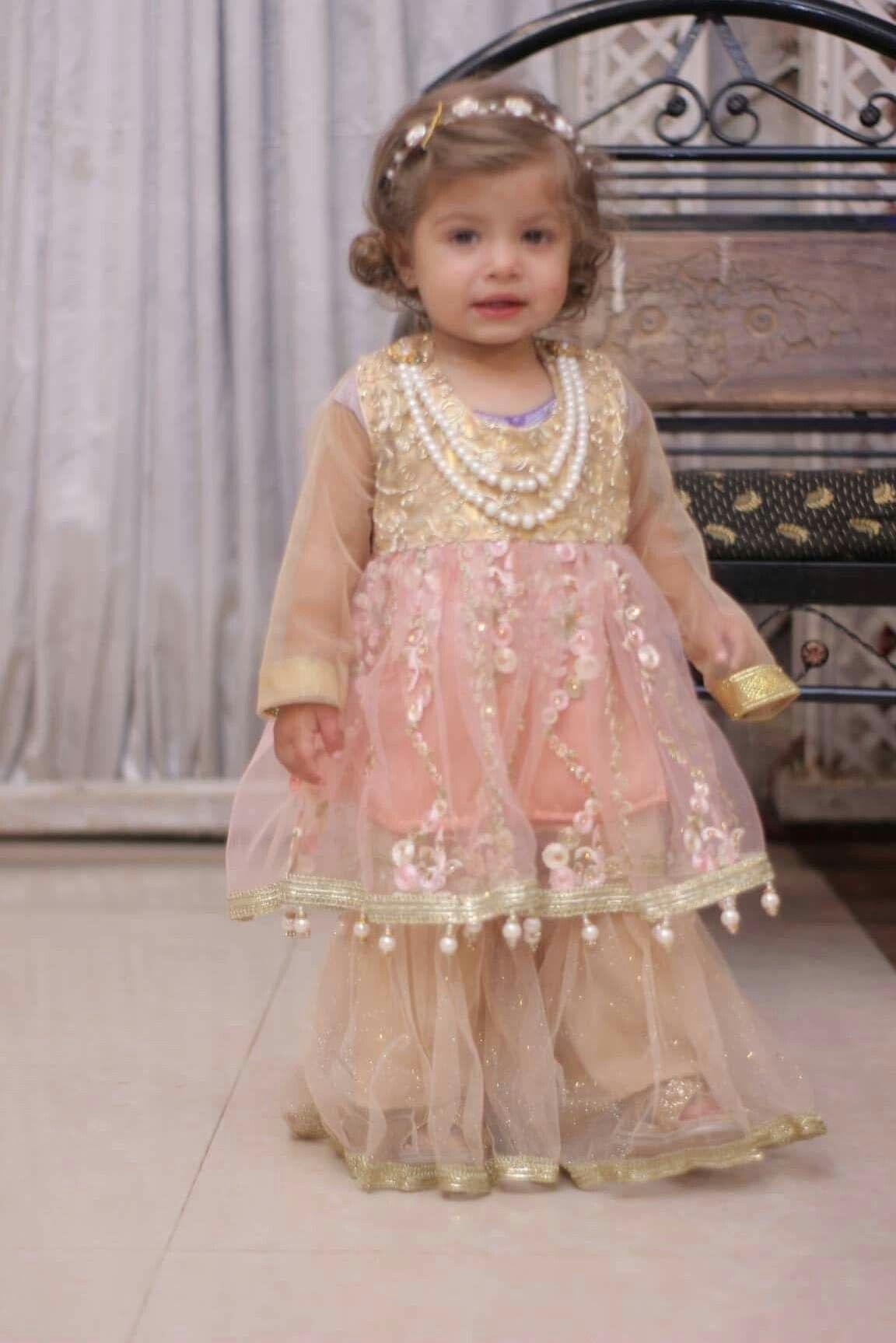 fancy wedding baby dress design