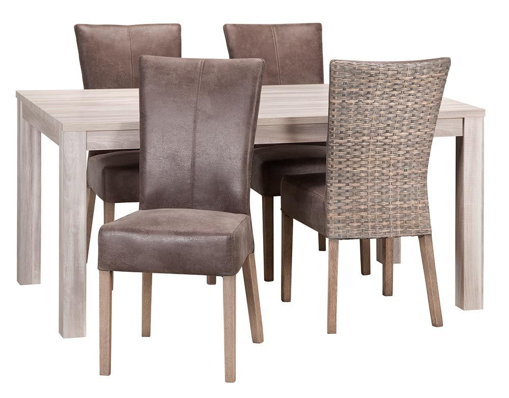 Eetkamertafel Yvette met stoel Jasmine: voor een landelijk ...