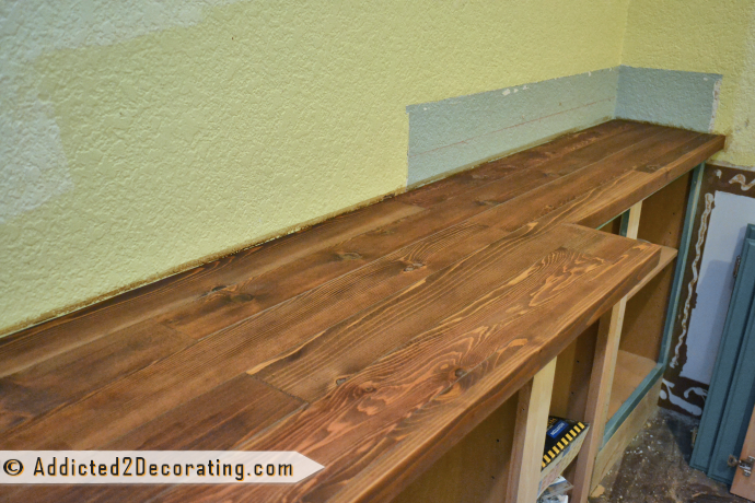 DIY Wood Countertop From Addicted 2 Decorating
