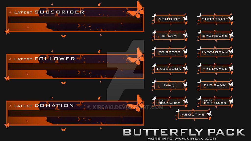 Twitch Alerts And Panels Orange By Kireaki Deviantart Com On Deviantart Twitch Overlays Streaming