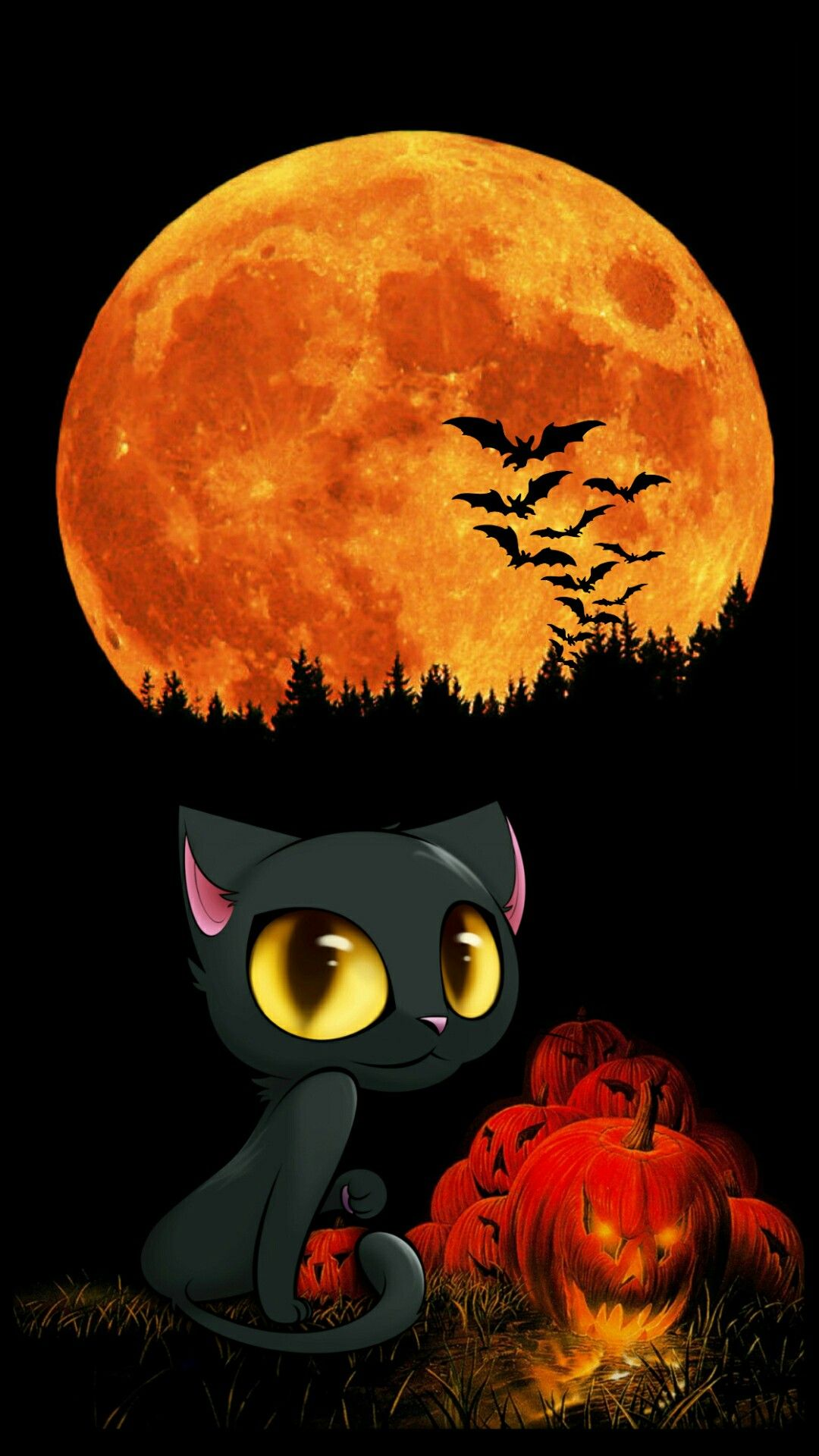 Cute Cat And Pumpkin Tap To See More Cute Haloween Iphone