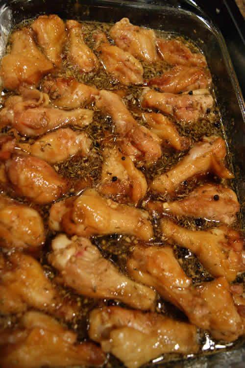 Home brew – honeyed wings using brine spicing.