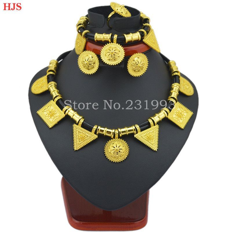 Cute and New Ethiopian jewelry sets 24k Gold plated sets for African