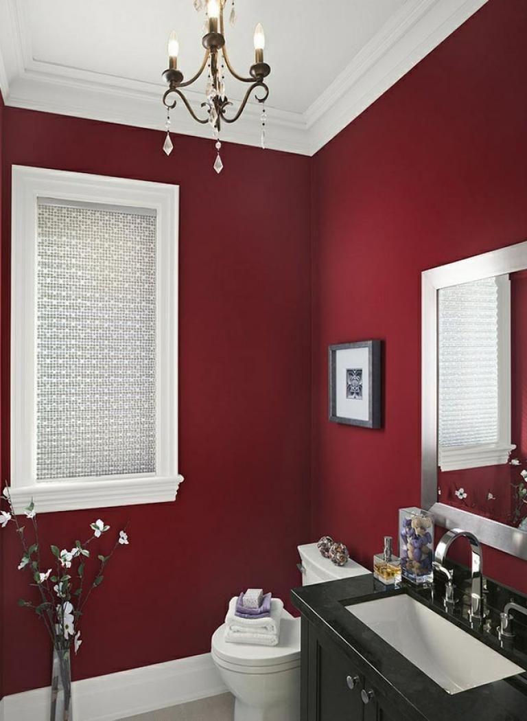 15 Wonderful Bold Colored Bathrooms Bathroom Red Painting Bathroom Home Decor