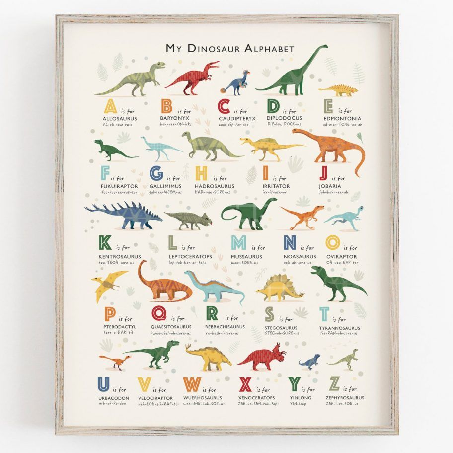 Dinosaur Art Print #dinosaurnursery