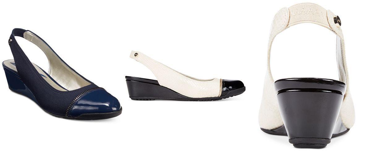Anne Klein Callum Slingback Wedge Pumps - Pumps - Shoes - Macy's