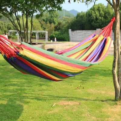 Winston Porter Kailey Naval-Style Outdoor Tree hammock Color: Multi