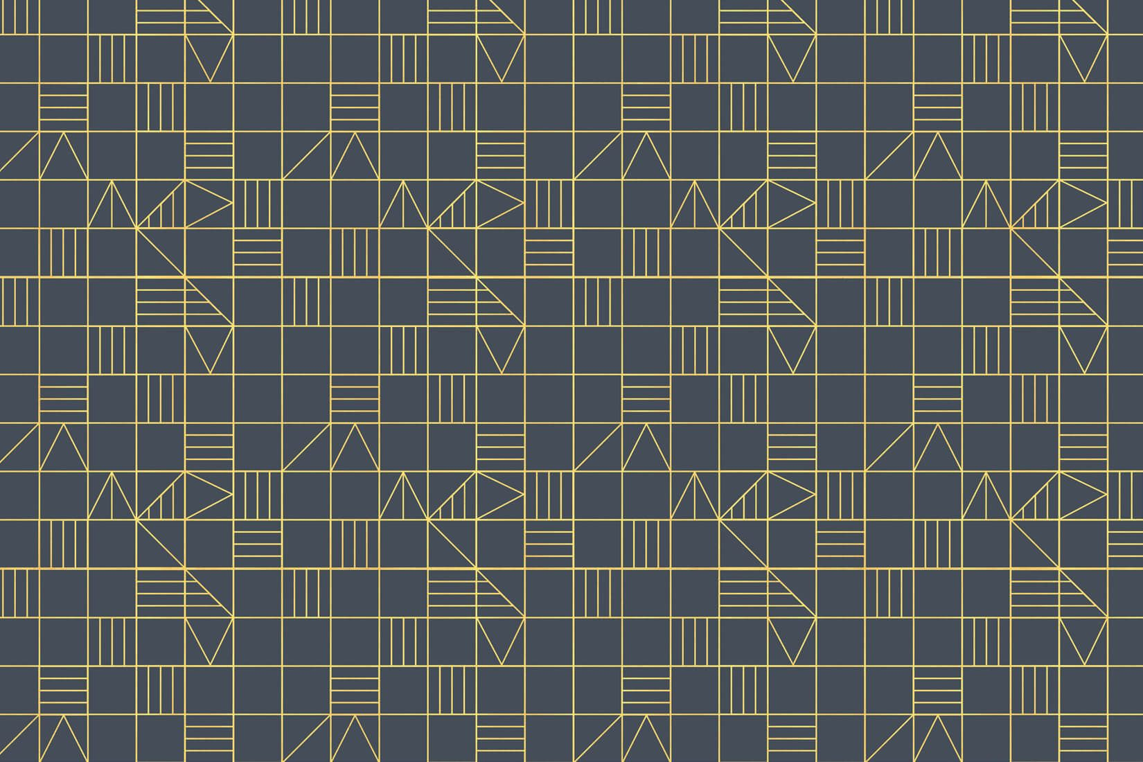 Grid Classic Triangles Wall Mural Wall murals, Triangle