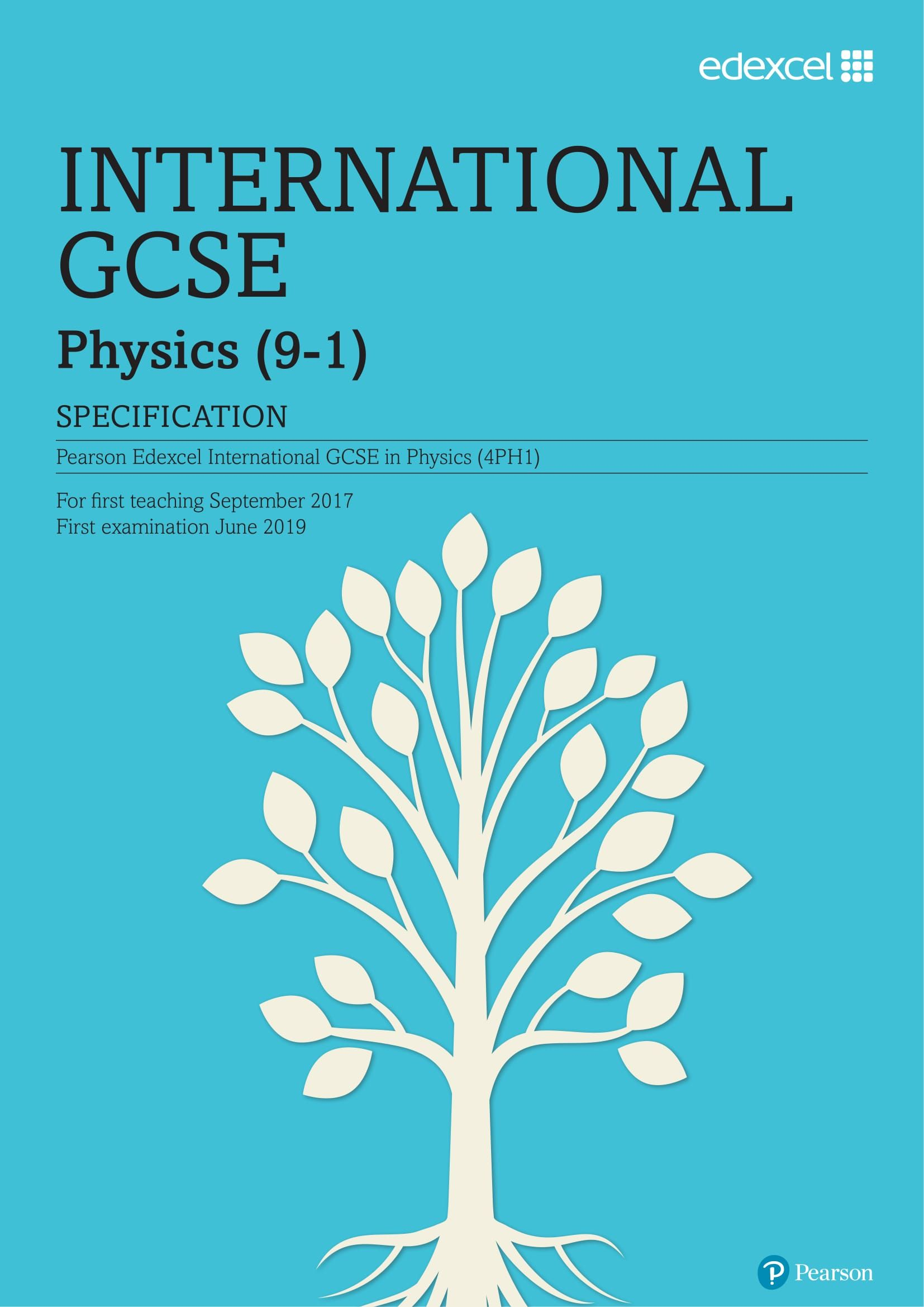 Edexcel International GCSE Physics Syllabus 4PH1 - IGCSE Physics
