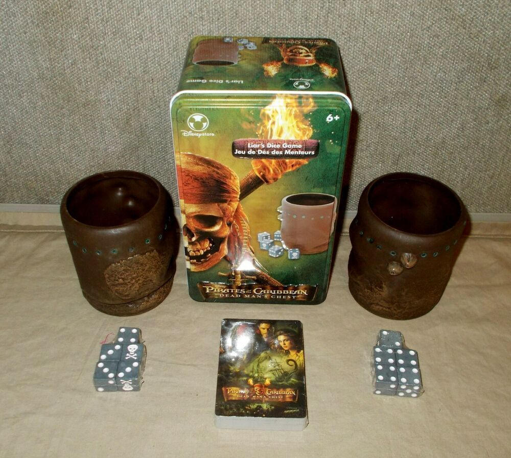 NEW Disney Pirates of the Caribbean Dead Man's Liar's Dice