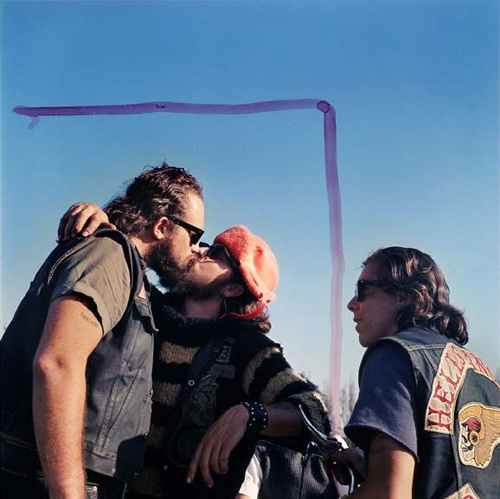 hunter s thompson hell s angels kissing guys c s i found hunter s thompson hell s angels kissing guys c 1960s i