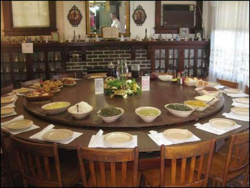 Huge Round Dining Table Dapur Furniture Modern