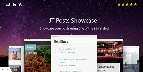 JT Posts Showcase by JSquareThemes on CodeCanyon